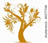 beautiful art tree isolated on... | Shutterstock .eps vector #84277768