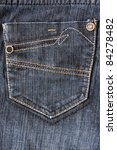 Fragment Of Jeans With Pocket ...