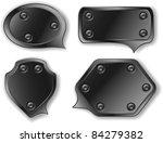 template metallic bubbles ... | Shutterstock .eps vector #84279382