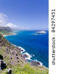 Coastline of Windward Coast on Oahu, Hawaii - stock photo