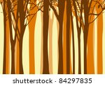 Abstract Colorful Autumn Tree...