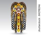 indonesian balinese spirits... | Shutterstock .eps vector #84298246