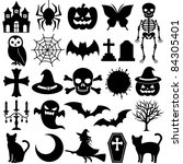 black icons | Shutterstock .eps vector #84305401