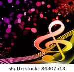 key notes | Shutterstock . vector #84307513