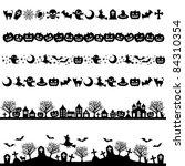 halloween line decoration | Shutterstock .eps vector #84310354