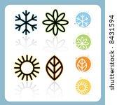 stylized four seasons icon set  ... | Shutterstock .eps vector #8431594