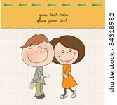 happy lovers couple | Shutterstock .eps vector #84318982