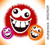 crazy furry funny face cartoon...