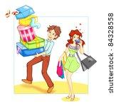 shopping | Shutterstock . vector #84328558