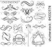 illustration of set of vintage... | Shutterstock .eps vector #84332578