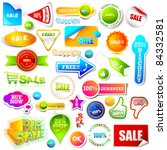 illustration of set of sale... | Shutterstock .eps vector #84332581