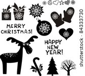 christmas icon set  isolated on ...   Shutterstock .eps vector #84333730
