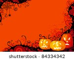 halloween pumpkins. three... | Shutterstock .eps vector #84334342