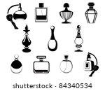 perfume bottles vector   Shutterstock .eps vector #84340534
