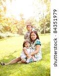 a shot of a pregnant asian... | Shutterstock . vector #84351979