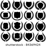 vector medieval shields and... | Shutterstock .eps vector #84369424