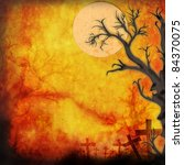 halloween background make for... | Shutterstock . vector #84370075