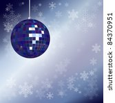 christmas disco ball with... | Shutterstock .eps vector #84370951
