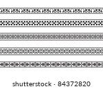 set of borders with the arab... | Shutterstock . vector #84372820