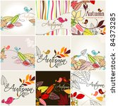 vector set of cute hand drawn... | Shutterstock .eps vector #84373285