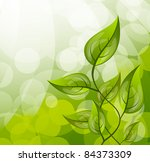 background with leaves | Shutterstock .eps vector #84373309