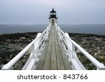 Lighthouse, Acadia National Park, ME, USA - stock photo
