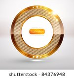 golden frame on white...