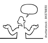 black line art illustration of... | Shutterstock .eps vector #84378850