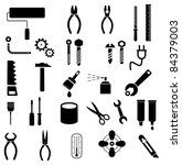 Hand Tools   Set Of Vector...