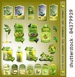 Set Of Olives Oil Labels