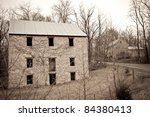 Antique/vintage stone building in the mountains of West Virginia - stock photo