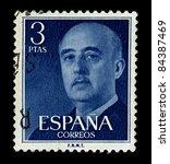 Spain Circa 1955 A Stamp...