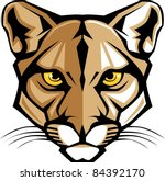 cougar panther mascot head... | Shutterstock .eps vector #84392170