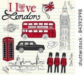 london doodles | Shutterstock .eps vector #84392998