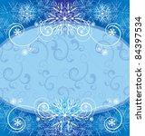christmas vintage snowflake...   Shutterstock .eps vector #84397534