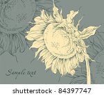 floral vintage background | Shutterstock .eps vector #84397747
