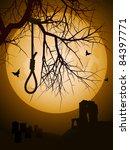 hangman's noose hanging from a... | Shutterstock .eps vector #84397771