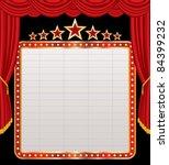 vector blank billboard on red... | Shutterstock .eps vector #84399232