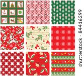collection of seamless xmas... | Shutterstock .eps vector #84416299