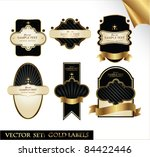 gold label set | Shutterstock .eps vector #84422446