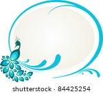 illustration of peacock sitting ... | Shutterstock .eps vector #84425254