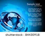 tech background with globe | Shutterstock .eps vector #84430918