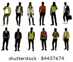 male fashion | Shutterstock .eps vector #84437674
