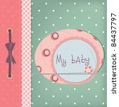 Baby Girl Greeting Card. Frame...