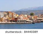 Old Venetian Harbor In Chania....