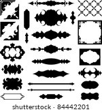 set of vector shapes and design ... | Shutterstock .eps vector #84442201