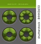 vector gui set   radial menus