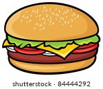 hamburger | Shutterstock .eps vector #84444292