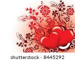 valentines floral background ... | Shutterstock .eps vector #8445292