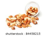Various Mixed Nuts Isolated On...